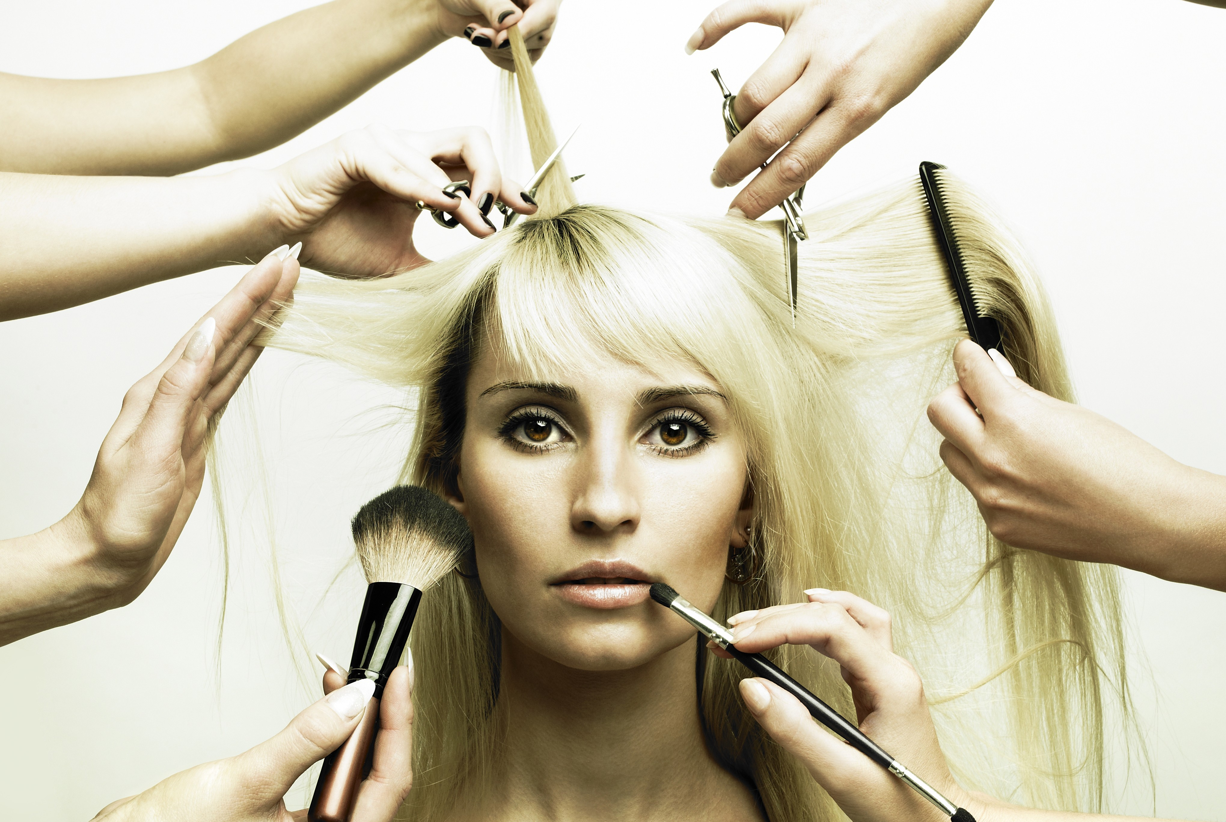 blond - hair and makeup